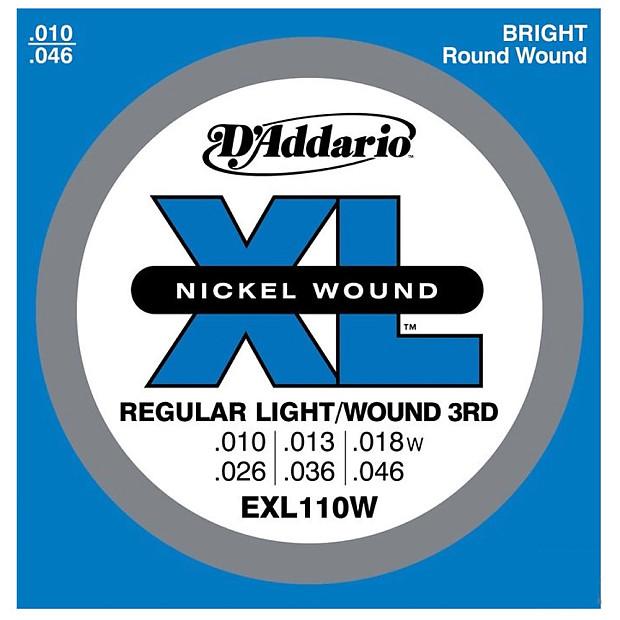 D'Addario EXL110W Nickel Wound 10-46 Regular Light Wound 3rd