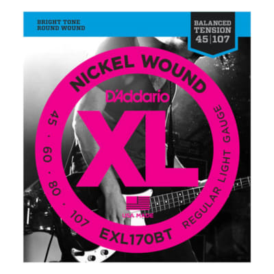 EXL170BT Nickel Wound, Balanced Tension Regular Light, .45-107, Long Scale