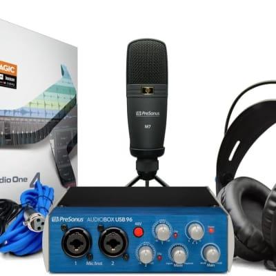Presonus AudioBox 96 Studio AudioBox USB 96, HD7 Headphones, M7 Mic, Studio One Artist