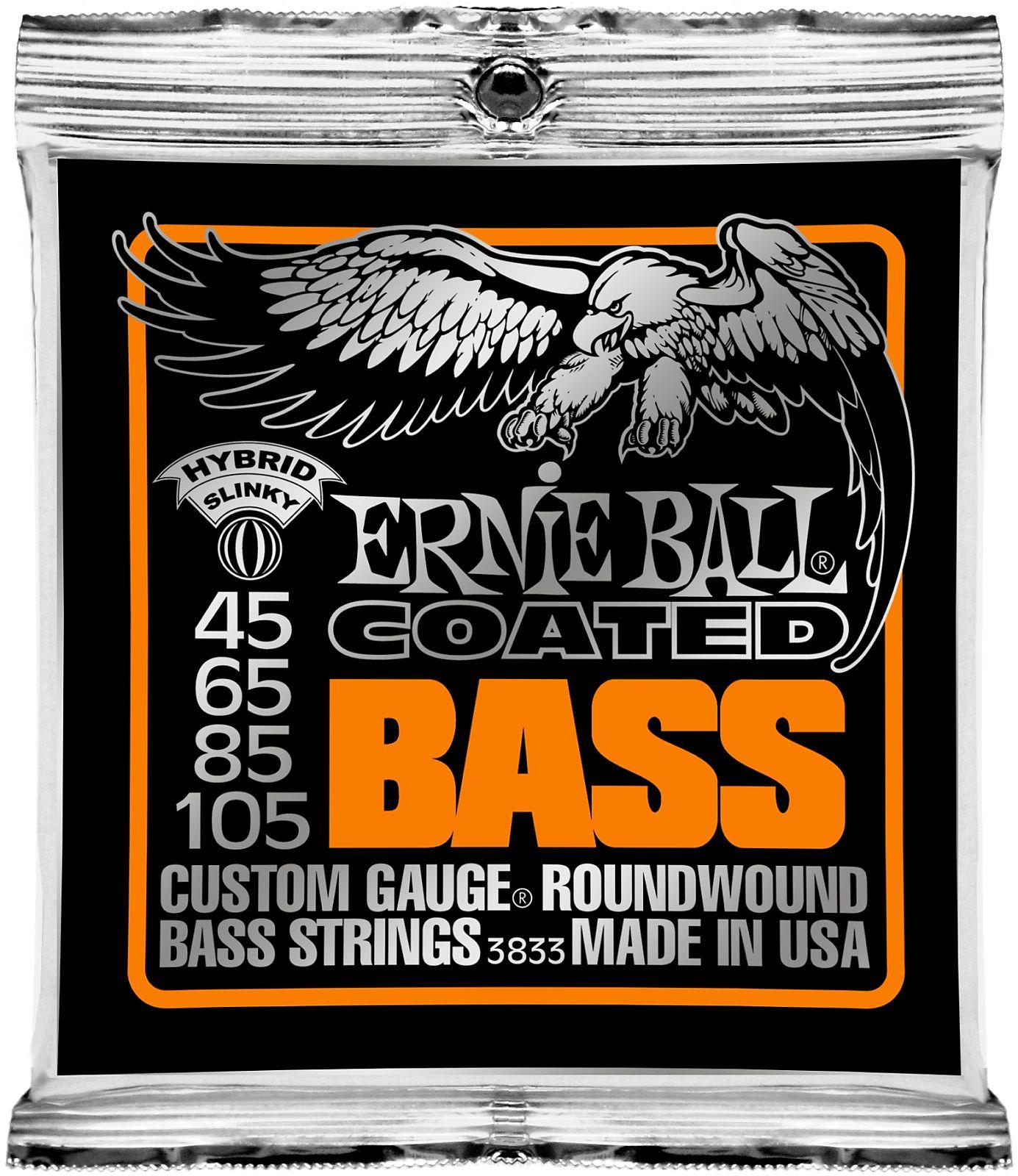 ernie ball 3833 coated hybrid slinky electric bass strings reverb. Black Bedroom Furniture Sets. Home Design Ideas
