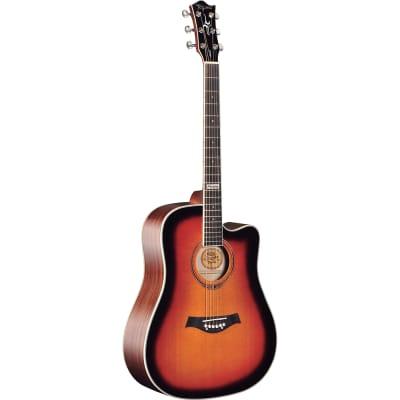 Tagima Guitars America Series Kansas Acoustic Guitar, Sunburst for sale