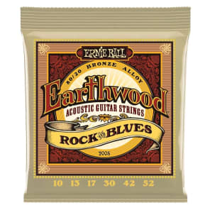 Ernie Ball 2008 Earthwood 80/20 Bronze Rock and Blues Acoustic Guitar Strings, .010 - .052