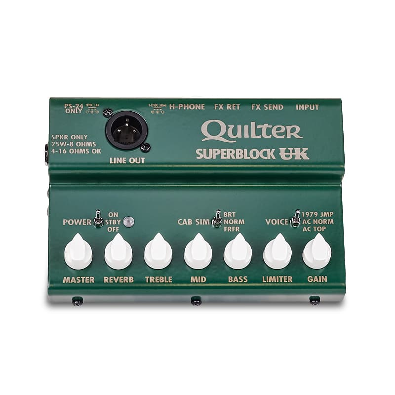 Quilter Superblock UK 25W Pedal-Sized Mini Guitar Amplifier Head