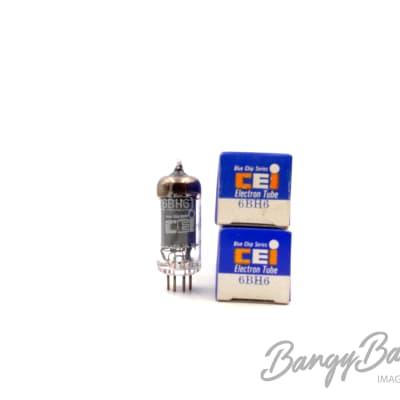 2 Vintage CEI 6BH6 Sharp Cut-off Pentode Tube Valve- BangyBang Tubes
