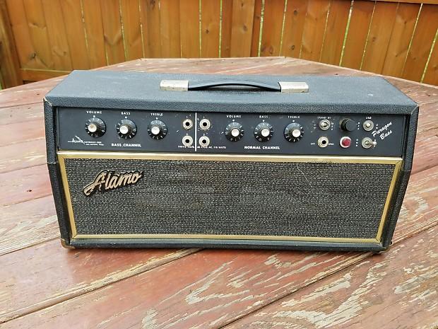 1972 alamo model 2575 paragon tube guitar bass amp head 2 x reverb. Black Bedroom Furniture Sets. Home Design Ideas