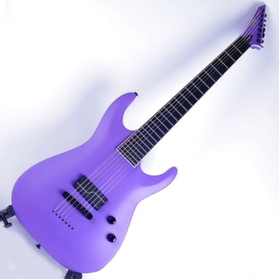 ESP Ltd SC-607 Baritone 1 Hum (Exhibition stock)  Purple Satin for sale
