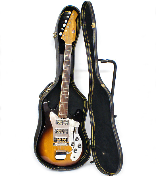 """All Original Sixties Teisco Del Rey ET-300 with 3 of the infamous """"Ry  Cooder"""" SS Gold Foil Pickups"""