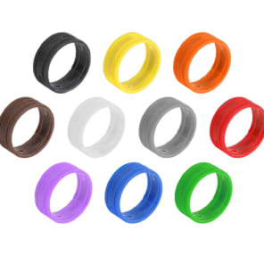 SuperFlex GOLD SFC-BAND-MULTI-10PK Colored Cable ID Rings (10-Pack)