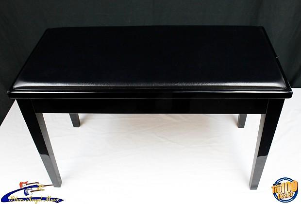 Yamaha Piano Bench Black High Gloss Ebony Finish, Padded Top, Tapered Legs  #001