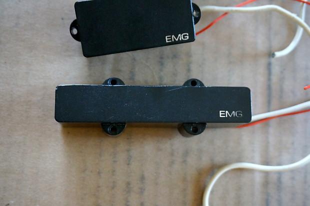 EMG PJ Active Bass Pickups P Bass W/ Wiring LJ Guitar Set 3 | Reverb