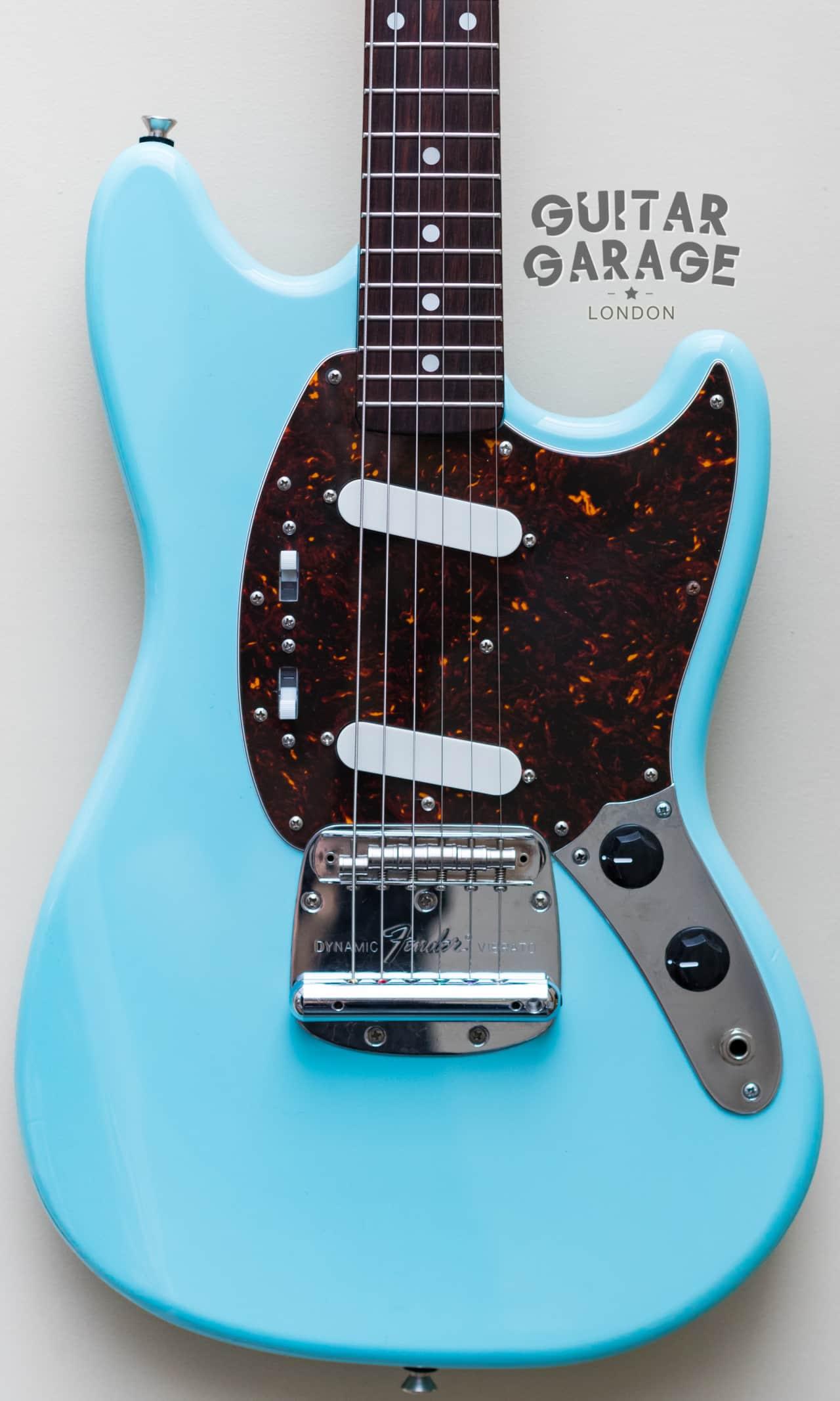 2004 Fender Japan Mustang 69 Vintage Reissue Daphne Blue | Reverb