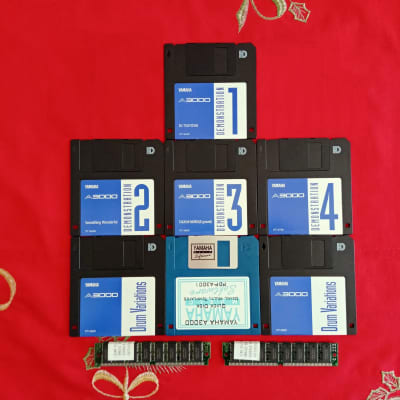 Yamaha A3000 Sampler 6 Original floppy disk_2 English manuals_64Mb of memory and original v2 package