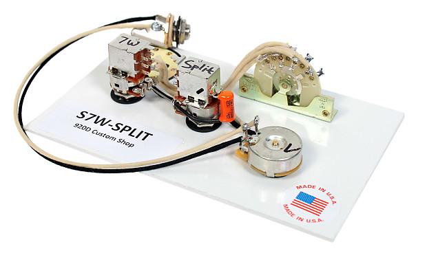 Fender Strat Stratocaster 7 Way Wiring Harness Push