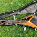 2003 Epiphone Popa Chubby Signature Flying V with P90s Natural