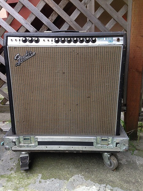 Fender Super Reverb Drip Edge W Roadcase AB763 1968
