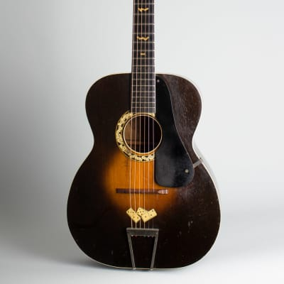 Regal  Le Domino Big Boy Arch Top Acoustic Guitar,  c. 1932, black hard shell case. for sale