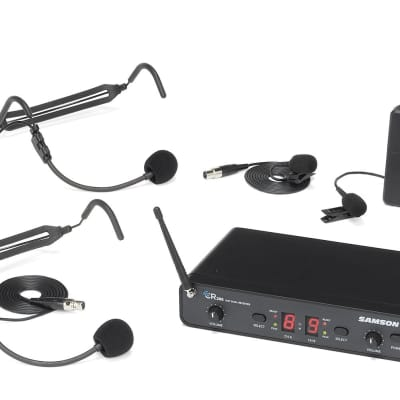 Samson Concert 288 Dual-Channel UHF Wireless Lavalier Mic Presentation System - I Band (518-566 MHz)