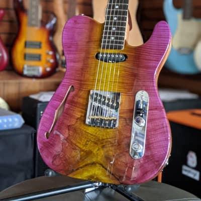 G&L Custom Shop ASAT Classic Semi-Hollow Purple Mist 2020 NAMM Show Guitar-Authorized Dealer for sale