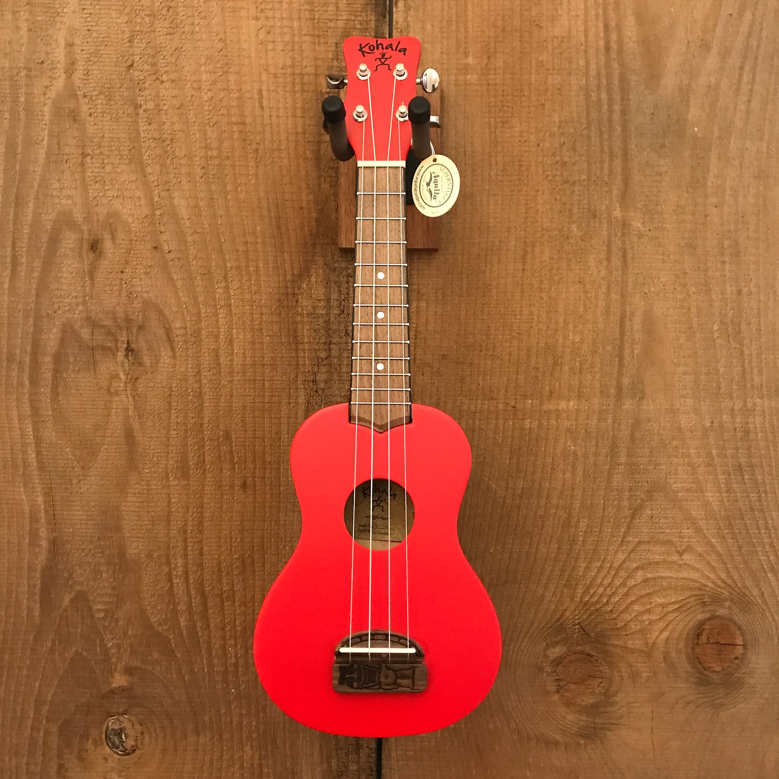 Kohala KT-SRD Tiki Series Soprano Ukulele Red