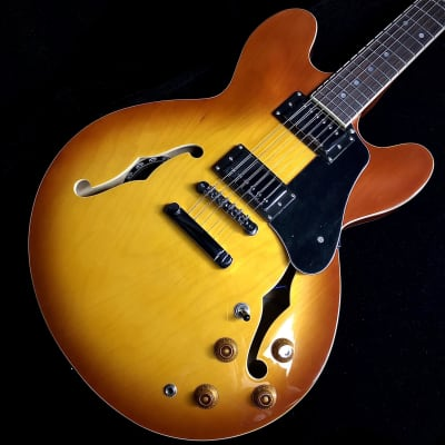 VINTAGE VSA500 REISSUED SEMI ACOUSTIC GUITAR ~ HONEYBURST