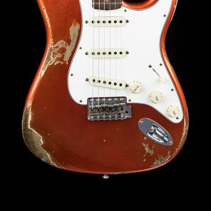 Fender Custom Shop 60s Super Faded/Aged Heavy Relic Stratocaster -  Super Faded/Aged Candy Apple Red for sale