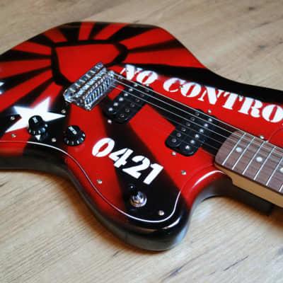 Custom Squier Jazzmaster Skullcat Guitars Qnstang No Control Punkrock Stencil