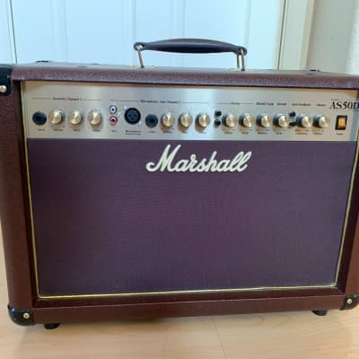 "Marshall AS50D 2-Channel 50-Watt 2x8"" Acoustic Guitar Combo 2010s Standard Brown"