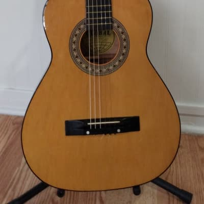 Global 3/4 Classical Guitar 1970's Natural for sale