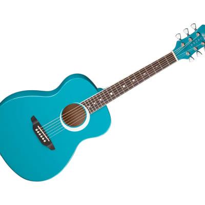 Luna Aurora Borealis 3/4 Guitar Teal ARBORTEAL for sale