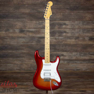 Fender American Deluxe Stratocaster HSS 2012 Sunset Metallic 7.74 pounds Strat for sale