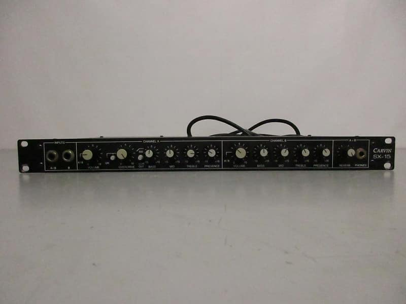 carvin sx 15 rackmount guitar preamp reverb. Black Bedroom Furniture Sets. Home Design Ideas
