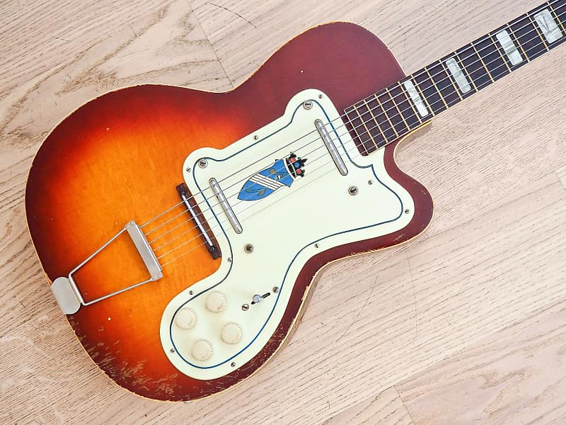 5691d45413 1957 Kay Thin Twin K161 Jimmy Reed Sunburst Vintage Electric | Reverb