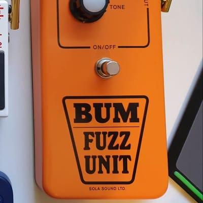 Sola Sound Jumbo Tone Bender Bum Fuzz Orange D*A*M for sale