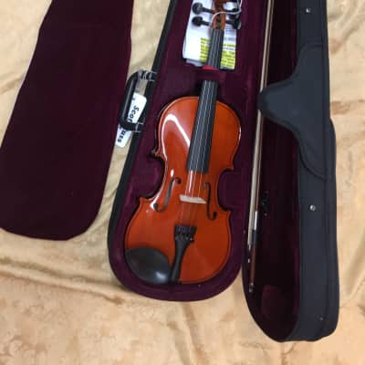"Celestini 4/4 Size (14"") Student/Beginner Violin Gloss Finish-Real Wood w/Setup!"