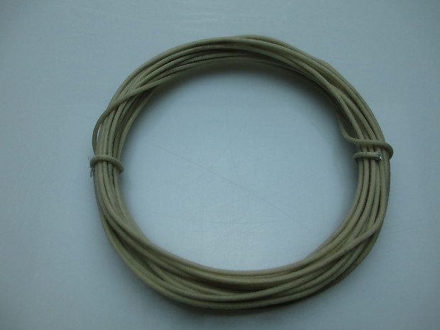 NEW 25/' Gavitt Vintage Cloth Covered Push Back Guitar Wire 22 Gauge WHITE USA