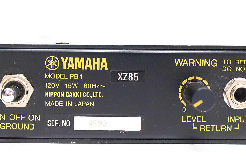 Yamaha PB1 Bass Preamp and Parametric EQ Equalizer Rack Unit