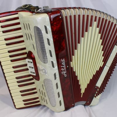 3914 - Candy Stripe Atlas Piano Accordion LM 41 120 for sale