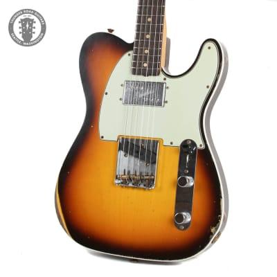 New Fender Custom Shop Limited Cunife Telecaster Custom in Faded Aged Chocolate 3-Tone Sunburst