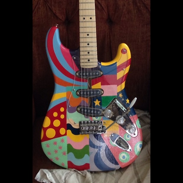 Fender Stratocaster 2013 Custom Psychedelic Paint Job SALE OR TRADE