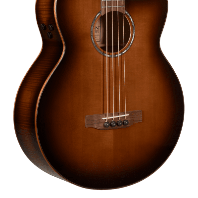 Teton STB130FMGHBCENT Sitka Spruce Top Wood Mahogany Neck 4-String Acoustic Bass Guitar for sale
