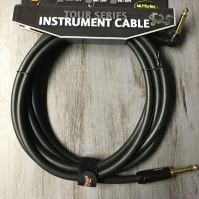 Ortega Tour Series Instrument Cable- Muteplug- 10 Feet for sale
