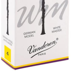 Vandoren CR164T White Master Traditional Bb Clarinet Reeds - Strength 4 (Box of 10)