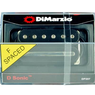 DiMarzio DP207 D-Sonic F-Spaced Humbucker Guitar Bridge Pickup - Black