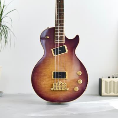 Rare Vintage Kawai Rockoon by schaller singlecut bass 1989 Purple burst 32