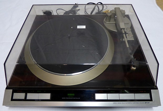 Denon DP51F Turntable 1980s Simulated Rosewood