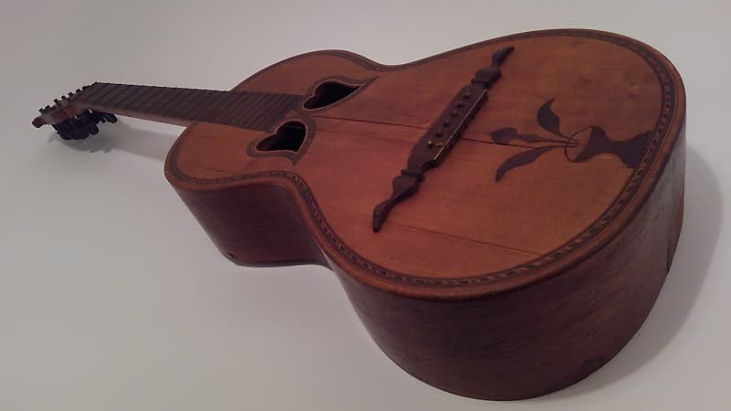Unknown Beautiful Vintage Acoustic For Parts Repair Or Wall Art Hearts On Body Birds On Headstock