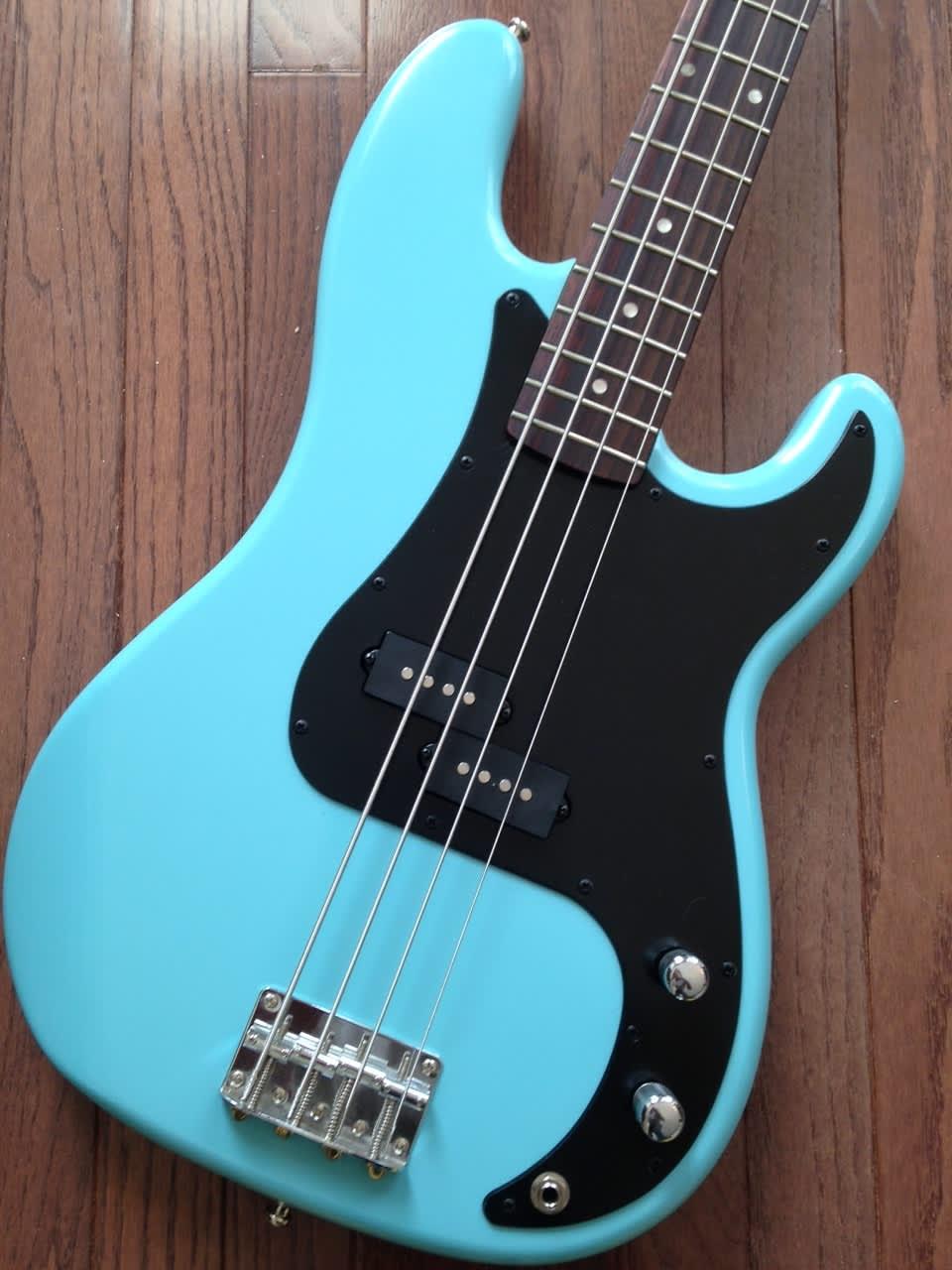 Squier Precision Bass - Daphne Blue nitro refinish with | Reverb