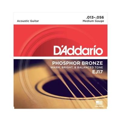 NEW D'Addario EJ17 Phosphor Bronze Acoustic Strings - Medium - .013-.056