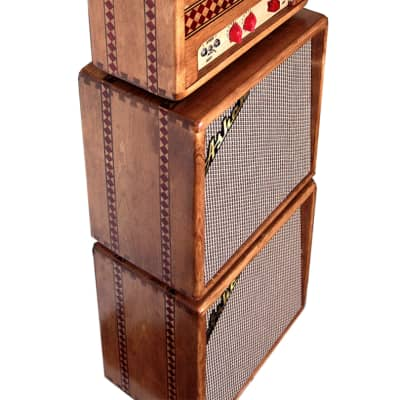 Ashen Stereo 3+3 Watts Handwired Guitar Tube Amp Cabinet Set for sale