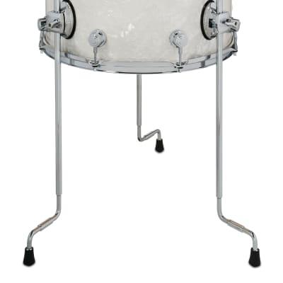DW Performance Floor Tom Drum 14x16 White Marine Pearl w Legs DRPF1416LTWM